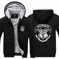 Harry Potter Hoodie Zipper Sweatshirt Print Hooded Warm Coat Unisex Jacket Top