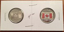 2015 Canadian Coin Set - 50 YEARS - 2 x 25 Cent Red and White Flag