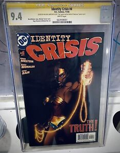 Identity Crisis #4A Turner Variant CGC 9.4 SS 2004 Wonder Woman The Truth