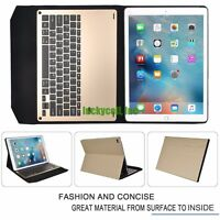 "Apple iPad Pro 12.9"" Slim Aluminum Bluetooth Keyboard + PU Leather Case Cover"