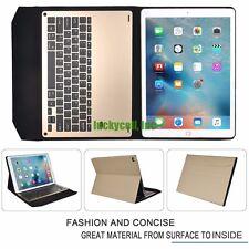 "Apple iPad Pro 12.9"" Slim Aluminum Bluetooth Keyboard + PU Leather Case Cover"