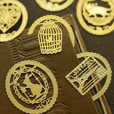 2x Kawaii Gold Metal Bookmarks Cute Book Marker for Books Stationery Christmas S