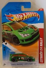 2012 Hot Wheels Thrill Racers-City Stunt '12 Citroen C4 Rally Green