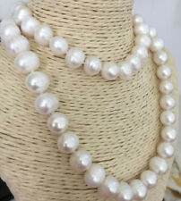 100% NATURAL 10-11MM WHITE SOUTH SEA BAROQUE PEARL NECKLACE 35INCH