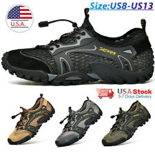 Light Outdoor Breathable Men's Hiking Mesh Wading River Shoes Non-slip Sneakers