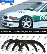 BMW E36 Fender Flares WHEEL Arches Extension Wide Body Kit  2.4 Inch Black 4 PCS