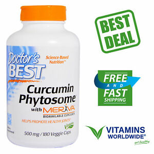 Doctor's Best, Curcumin Phytosome, Meriva, Helps Healthy Joints 500mg, 180 VCaps
