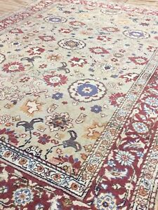 Tur Antique,Old,Used Handmade,Wool Rug Carpet Shabby Chic,Size;6.7 by 4.7 Ft