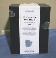 David's Tea nordic mug with infuser and lid - BRAND NEW draw your own DIY design