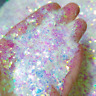 White Opal Iridescent Glitter Flakes For Nails, Resin, Crafts, Makeup & Tumblers