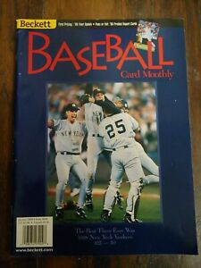 NY Yankees WS Champs, El Duque Beckett Baseball Card Monthly Magazine (Jan 1999)