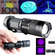Mini Portable Purple UV LED Flashlight Ultra Violet Blacklight Torch Lamp Light