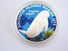 2011 Solomon Islands Dugong $10 Silver Proof Coin, COA