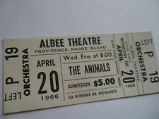 THE ANIMALS 1966 Original__UNUSED CONCERT TICKET__Providence, RI__NM-