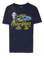 Chase Nascar Jimmie Johnson 2007 Champion Men's Sz M Double Sided Black T-Shirt