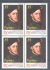 1998 IV CENTENARIO DE LA MUERTE DE FELIPE II  EDIFIL 3548 ** MNH B4 TC12363