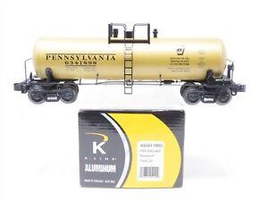 O Gauge 3-Rail K-Line K6341-1893 Aluminum PRR Pennsylvania Tank Car #6341898