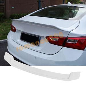 For Chevrolet Malibu 2016-2018-2020-2021 White Rear Tail Trunk Spoiler Wing Lip