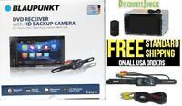 """BLAUPUNKT CAR 2-DIN 6.2"""" TOUCHSCREEN DVD CD BLUETOOTH STEREO FREE REAR CAMERA"""