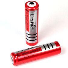 4 St. ULTRA FIRE Lithium Ionen Akku 3,7 V / 4200 mAh BRC / Größe 18650  66x18 mm