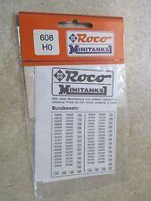 ROCO MINITANKS - HO SCALE - SET OF GERMAN LICENSE PLATES   # 608