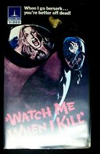 Watch Me When I Kill VHS 1977