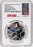 2016 Fiji $1 Marvel's Avengers Winter Soldier 1oz Silver Proof Coin NGC PF69-FDI