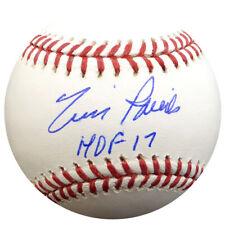 "TIM RAINES AUTOGRAPHED MLB BASEBALL MONTREAL EXPOS ""HOF 17"" BECKETT 114973"