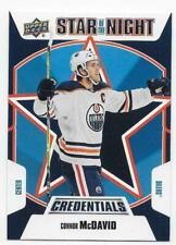 19/20 2019 UD CREDENTIALS HOCKEY STAR OF THE NIGHT CARDS 1S,2S,3S-XX U-Pick List