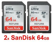 SanDisk Ultra SDXC 2 x 64GB = 128GB Class 10 Memory Card  SD 2x 64 GB = 128 GB