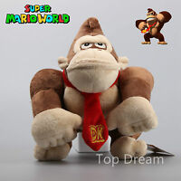 "Nintendo Super Mario Bros Donkey Kong Monkey Stuffed Toy Plush Doll 10"" Teddy"