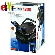 Penn-Plax Cascade Canister Filter 1200 Crystal Clear Water Fresh Marine Aquarium