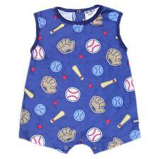 Oshkosh B'gosh Printed S/L Romper (Blue Baseball & Bat), Size: 9 mos #crzyj