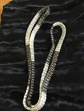 Women's Jewelry Chain LINK  Necklace SILVER AND BLACK