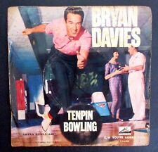 BRYAN DAVIES - TENPIN BOWLING - RARE 1962 AUSSIE 7'' SINGLE