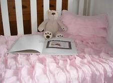Girls Cot Crib Infant Nursery Bedding Quilt Shabby Chic Petticoat Pink Ruffles