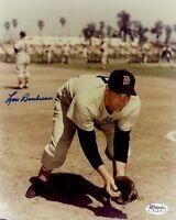 Lou Boudreau Signed Jsa Cert Sticker 8x10 Photo Authentic Autograph