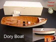 """Wood ROW BOAT Skif Dory CANOE model rowboat skiff 11.5"""" nautical decoration NEW"""