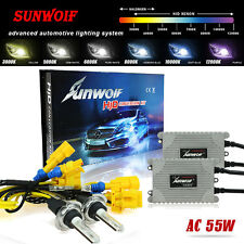 Canbus 55W AC Xenon Hid Conversion Kit Headlight Bulbs H1 H3 H4 H7 H11 9005 9006
