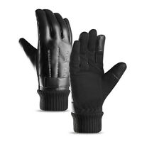 For Men Women Leather Winter Warm Gloves Windproof Touch Screen Ski Motorcycle