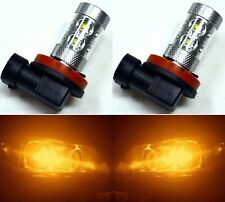 LED 50W H8 Orange Amber Two Bulbs Fog Light Replace Lamp Upgrade OE Color