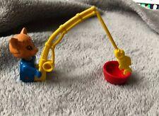 Lego Fabuland Set 3701 Cornelius / Charlie Cat Fishing Rod & Pan (1982)