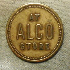 Coal: Smithfield PA 2611-A5a At Alco Store R-10 Brass 26mm xf large letters,