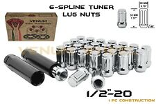 "Chrome Spline Lug Nut Kit 1/2-20"" Fits Jeep Wrangler JK Liberty Grand Cherokee"