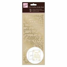 Anitas Outline Stickers - Verses - Happy Anniversary - Gold for cards/crafts