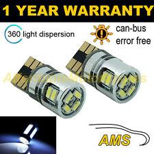 2x w5w t10 501 CANBUS SENZA ERRORI BIANCO 10 SMD LED Lampadine Sidelight sl102904