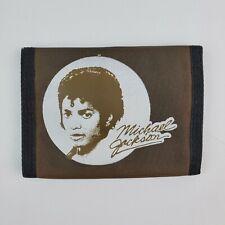 Vintage 1980'S MICHAEL JACKSON THRILLER Wallet New Old Stock Nylon Brown BiFold