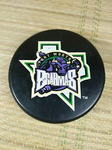 Vintage Fort Worth Brahmas Official Hockey Puck - CHL - Lindsay - Canada