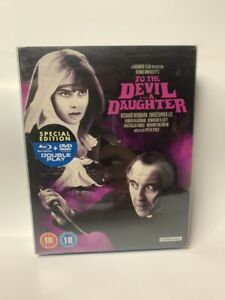 TO THE DEVIL A DAUGHTER rare UK BLU-RAY& DVD combo British Hammer horror