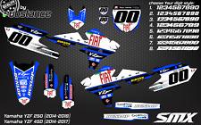 YZF 250 450 motocross graphics kit 2014 2015 YZ450F MX decals kit YZ250F sticker
